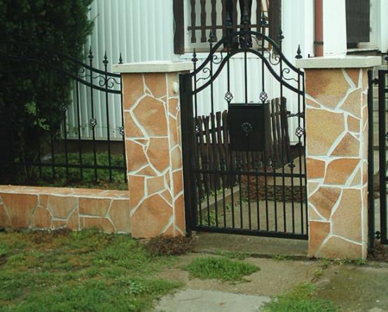 Аморит камень забор столбы