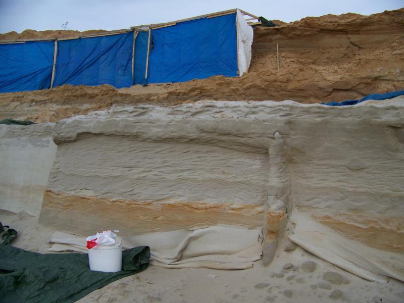 Аморит подготовка места в песчаном карьере