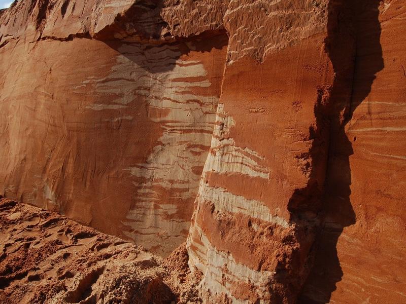 Аморит срез песка в карьере
